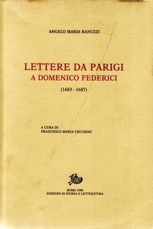 copertina di Lettere da Parigi a Mons. Domenico Federici (1683-1688)