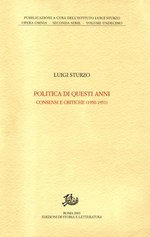 copertina di Politica di questi anni