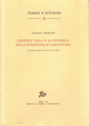 copertina di Lorenzo Valla e la polemica sulla donazione di Costantino