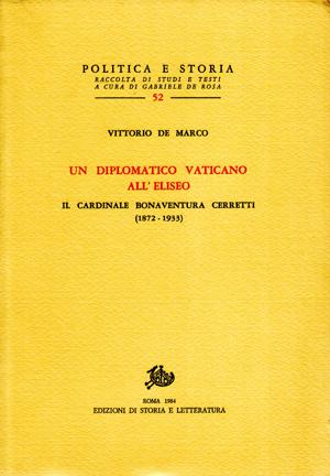 copertina di Un diplomatico vaticano all'Eliseo