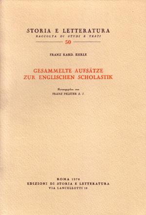 copertina di Gesammelte Aufsätze zur englischen Scholastik