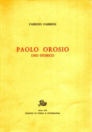 copertina di Paolo Orosio, uno storico