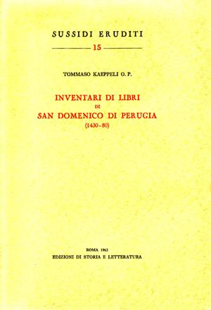 copertina di Inventari di libri di San Domenico di Perugia (1430-80)