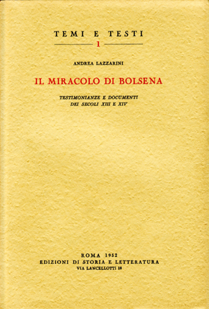 copertina di Il miracolo di Bolsena