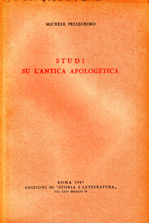 copertina di Studi su l'antica apologetica