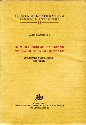 copertina di Il monachesimo basiliano nella Sicilia medievale