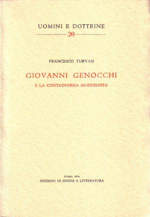 copertina di Giovanni Genocchi e la controversia modernista