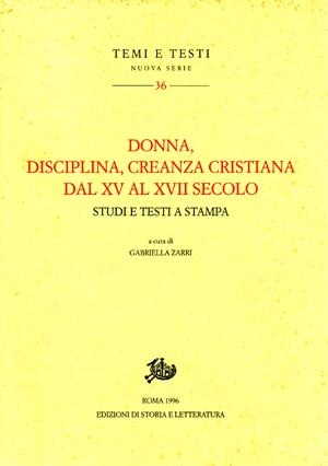 copertina di Donna disciplina creanza cristiana dal XV al XVII secolo