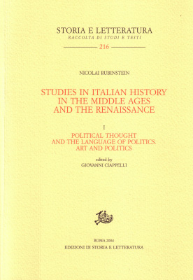 copertina di Studies in Italian History in the Middle Ages and the Renaissance. I.