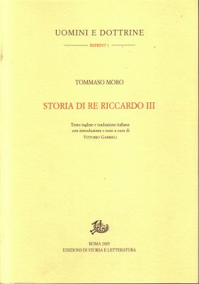 copertina di Storia di re Riccardo III