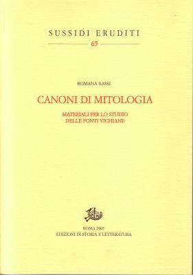 copertina di Canoni di mitologia