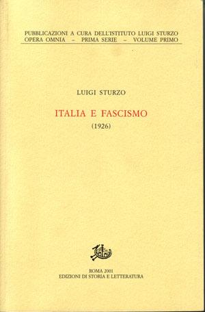 copertina di Italia e fascismo (1926)