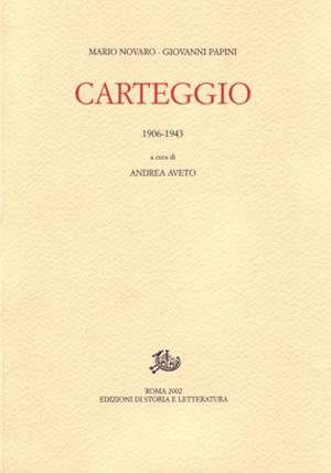 copertina di Carteggio 1906-1943