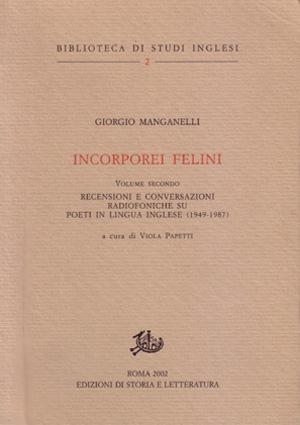 copertina di Incorporei felini. II