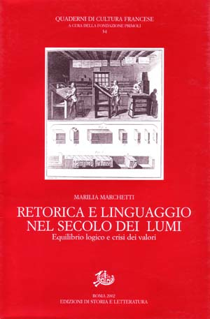 copertina di Retorica e linguaggio nel secolo dei Lumi