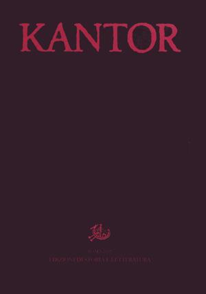 copertina di Tadeusz Kantor