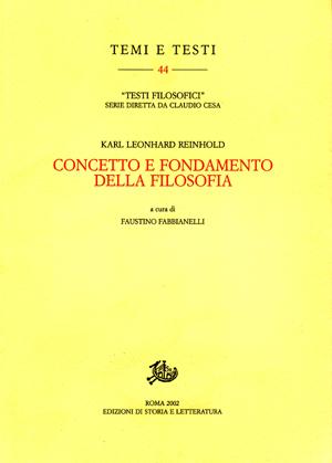 copertina di Concetto e fondamento della filosofia