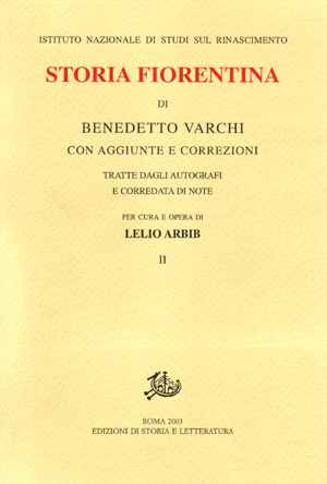 copertina di Storia fiorentina. II