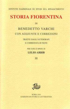 copertina di Storia fiorentina. III