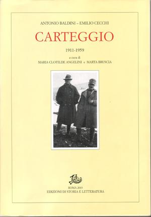 copertina di Carteggio 1911-1959