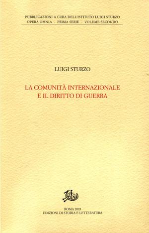 copertina di La comunità internazionale e il diritto di guerra