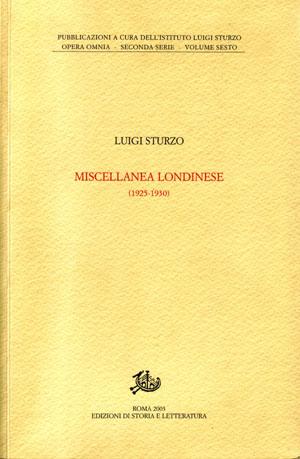 copertina di Miscellanea londinese (1925-1930)