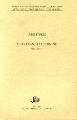 copertina di Miscellanea londinese (1931-1933)