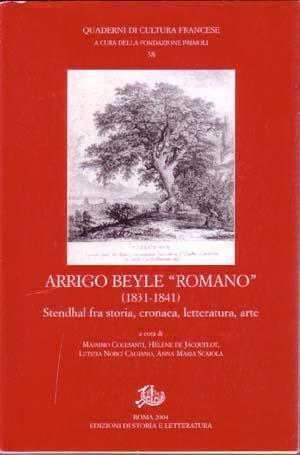 "copertina di Arrigo Beyle ""romano"" (1831-1841)"
