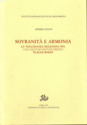 copertina di Sovranità e armonia