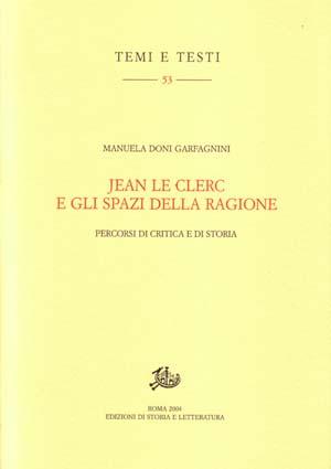 copertina di Jean Le Clerc e gli spazi della ragione