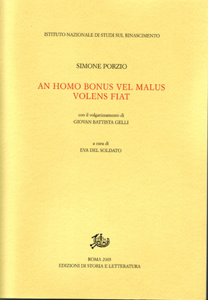 copertina di An homo bonus vel malus volens fiat