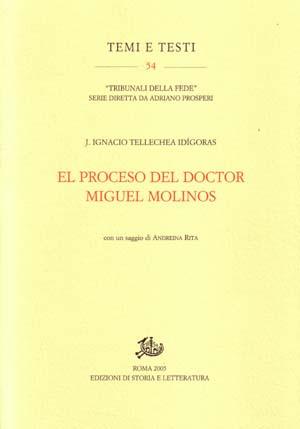 copertina di El proceso del doctor Miguel Molinos
