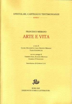 copertina di Arte e vita