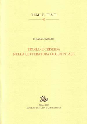copertina di Troilo e Criseida nella letteratura occidentale