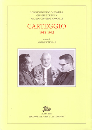 copertina di Carteggio 1933-1962