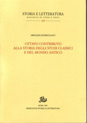 copertina di Ottavo contributo alla storia degli studi classici e del mondo antico