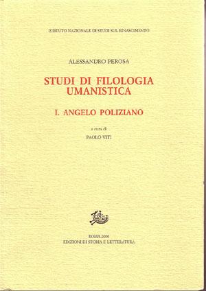 copertina di Studi di filologia umanistica. I