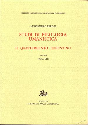 copertina di Studi di filologia umanistica. II