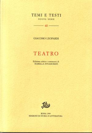 copertina di Teatro