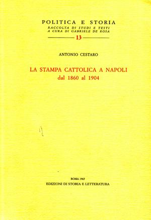 copertina di La stampa cattolica a Napoli dal 1860 al 1904