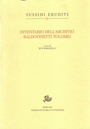 copertina di Inventario dell'Archivio Baldovinetti Tolomei