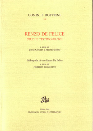 copertina di Renzo De Felice. Studi e testimonianze,