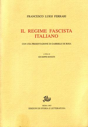 copertina di Il regime fascista italiano