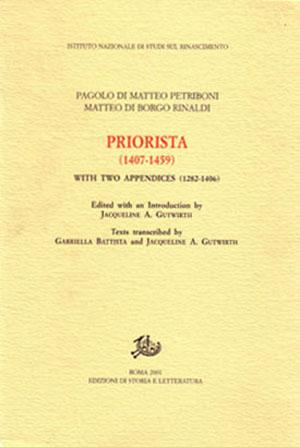 copertina di Priorista (1407-1459)