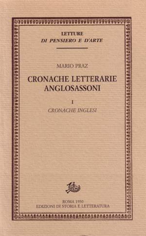 copertina di Cronache letterarie anglosassoni. I