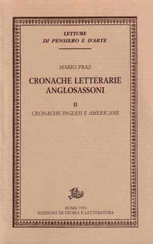 copertina di Cronache letterarie anglosassoni. II