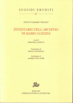 copertina di Inventario dell'archivio di Mario Gozzini