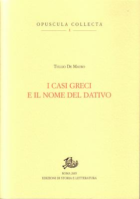 copertina di I casi greci e il nome del dativo
