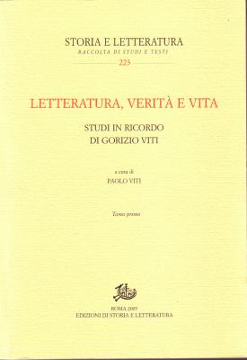 copertina di Letteratura, verità e vita