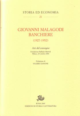 copertina di Giovanni Malagodi banchiere (1927-1952)